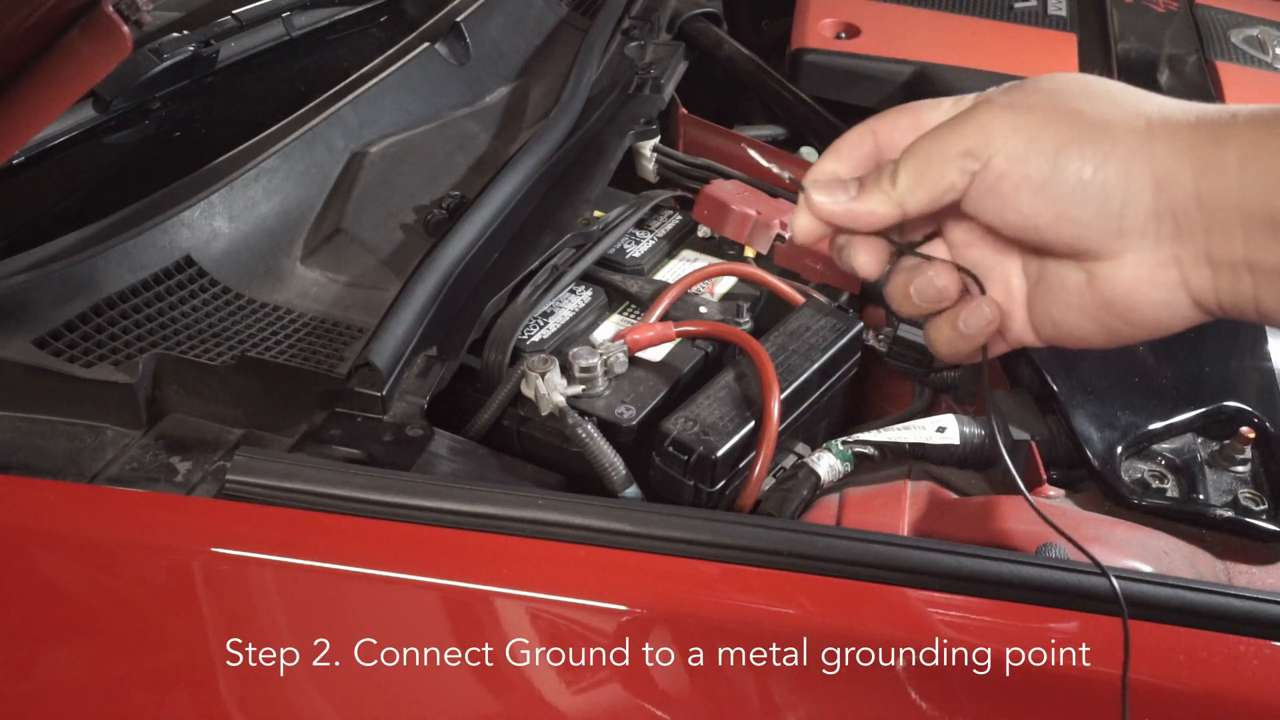 Connect Ground to a metal grounding point