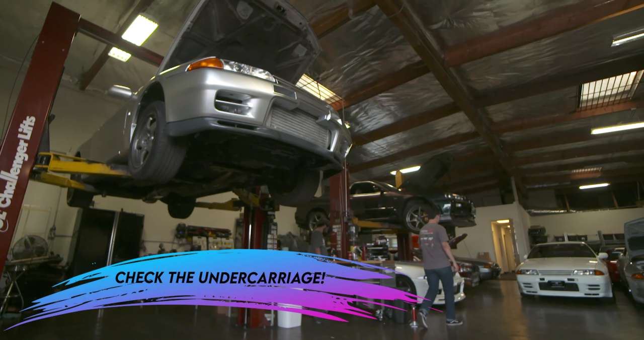 Check the undercarriage