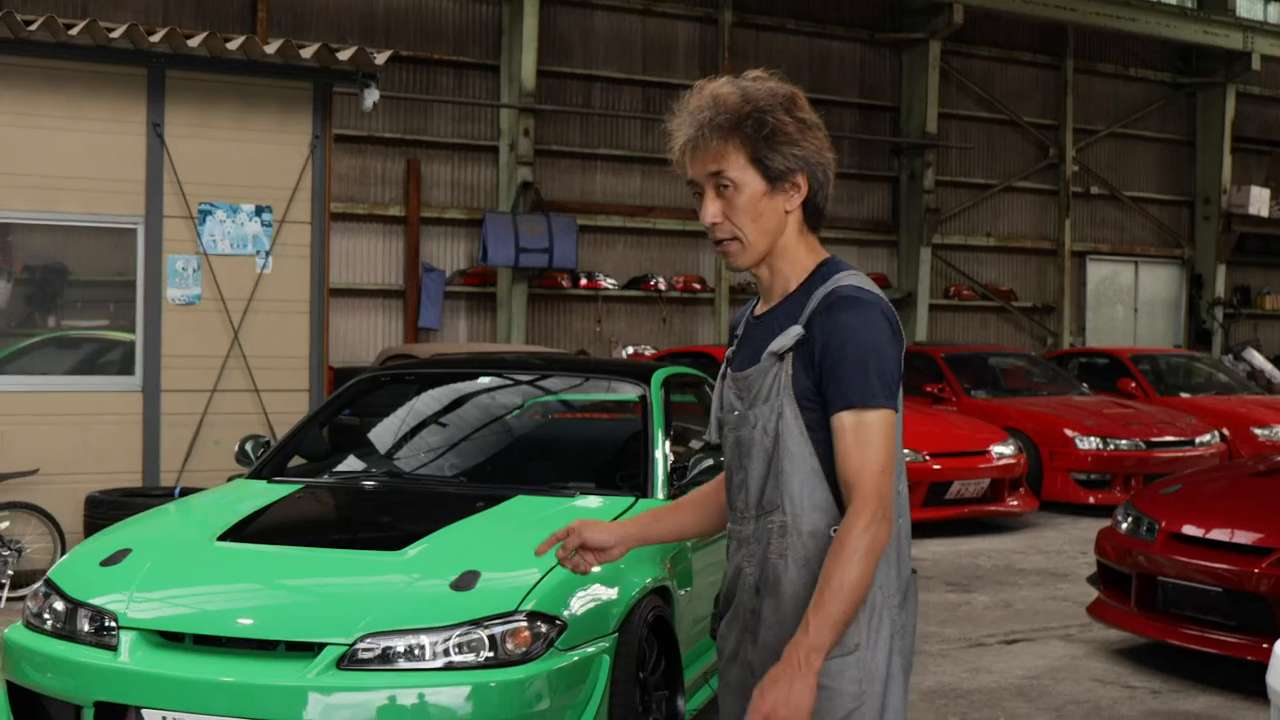 What type of aeroparts does Yasuyuki Kazama have fitted for his Nissan Silvia?