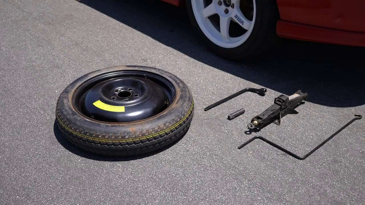 Spare Tire And Jack Tool Kit