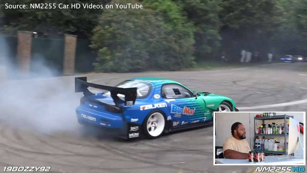 Gary King Jr. reviews James Deane's Mazda FD3 drifting at Goodwood Festival of Speed