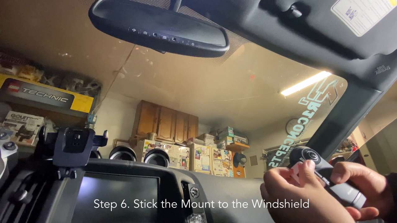 Stick the Mount to the Windshield