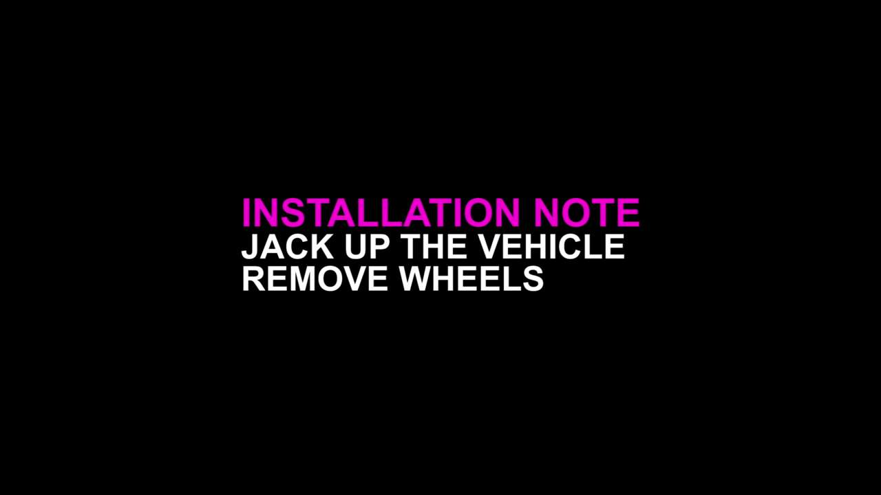 Jack Up Vehicle and Remove Wheels