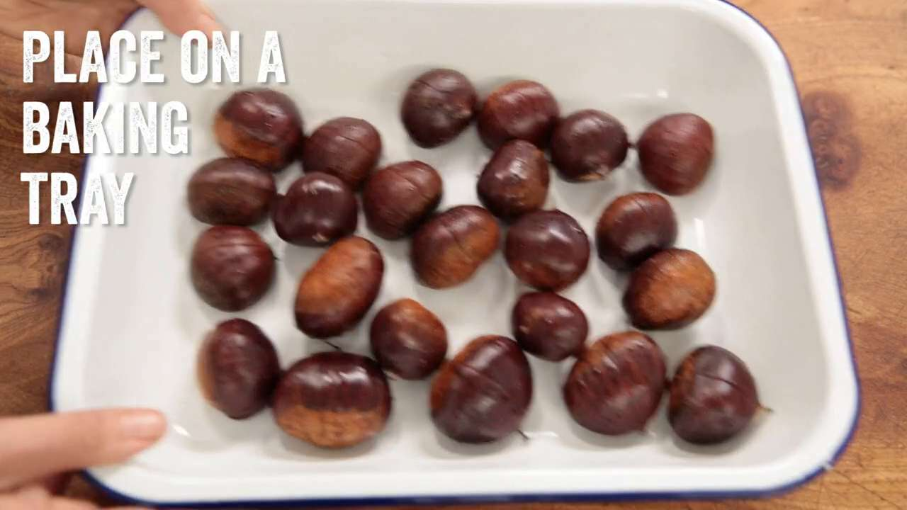Roasting and peeling chestnuts