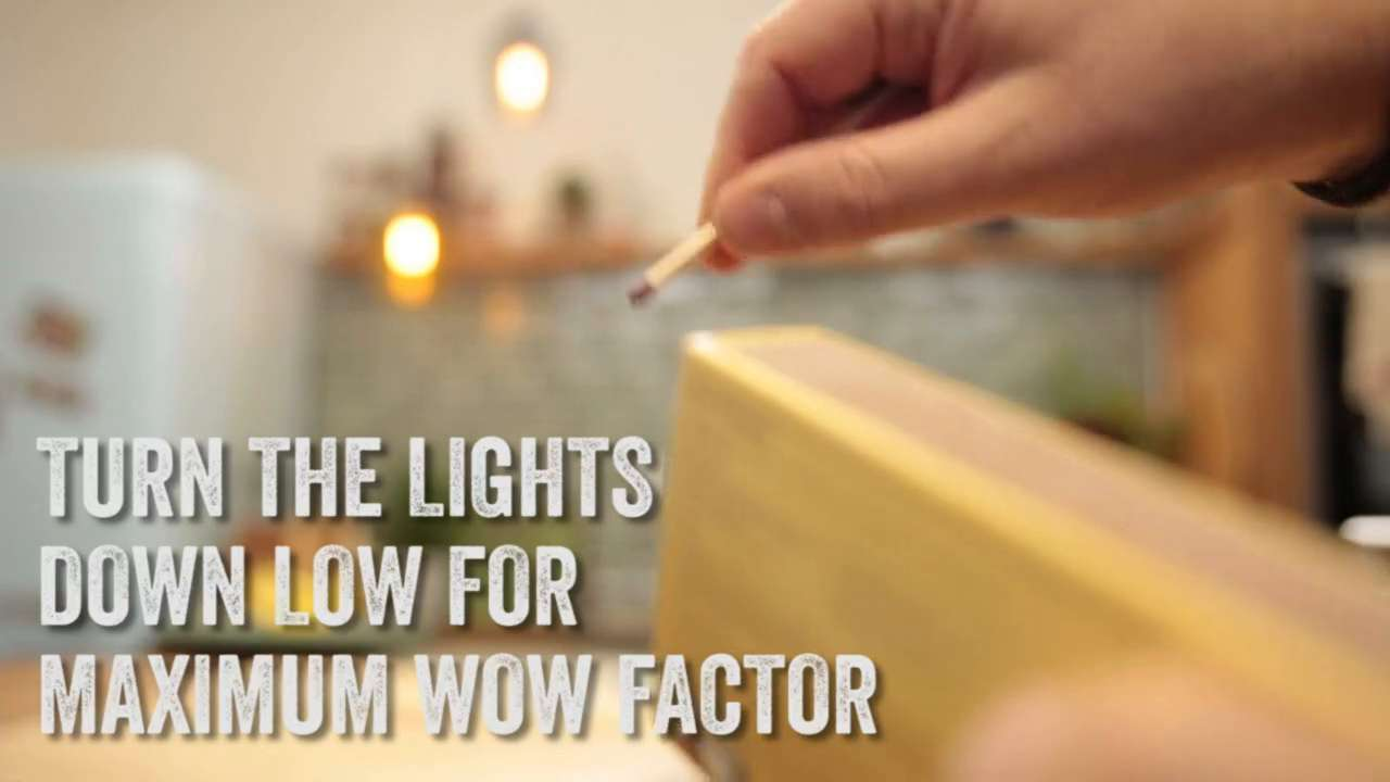 Turn the lights down for maximum wow factor